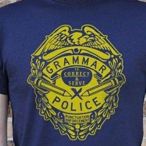 Tops - Grammar Police tshirt